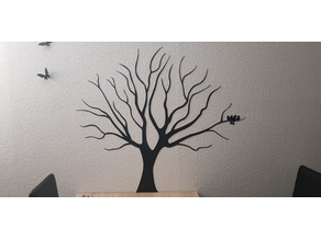 Tree Stencil Wall Art