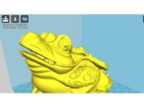 Toad money bank(fix the back fingernail & buttom surface)-update fix-2