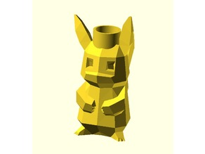 Low-Poly Pikachu Christmas Light