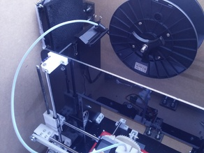Filament guide for Mendel90 with dibond(3mm thick) frame.