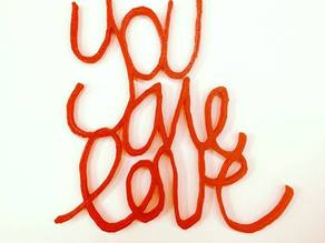 """You Are Love"" Graffiti Pendant & Beads"
