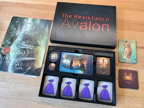 Slim Box or Organizer for The Resistance: Avalon