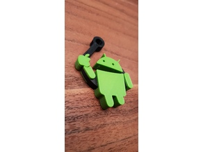 MultiColor Android Eating Apple Keychain