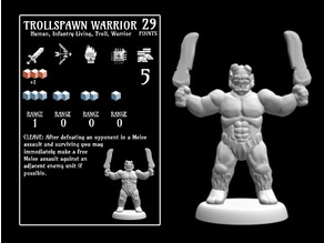 Trollspawn Warrior (18mm scale)