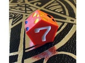 Seven Sided Die - d7 Heptagon