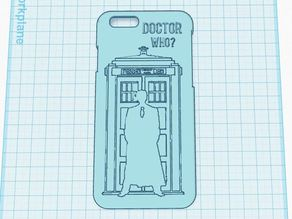 Doctor Who Iphone 6 Case - Embossed image of Tardis and Doctor