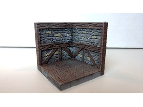 threednd stone wall corner