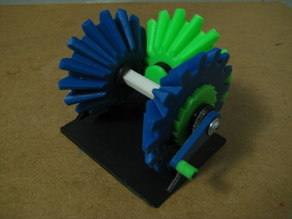 Mechanism that only turns one way, no matter what!!! Bevel Gear