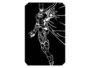 Iron Batman stencil