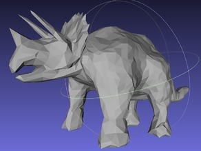 Low Poly Triceratops