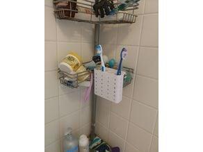 Shower Basket Toothbrush Holder