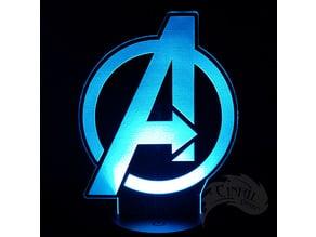Avengers Logo - LED Lamp Plate