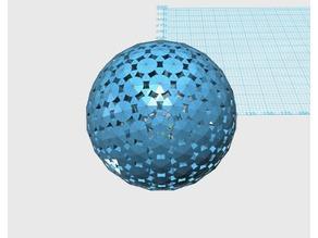 Geodesic 4V Sphere pattern100