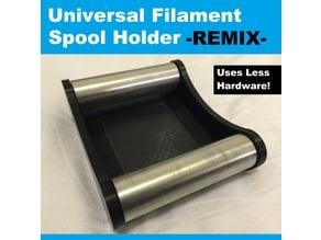Universal Filament Spool Holder -REMIX- Less Hardware