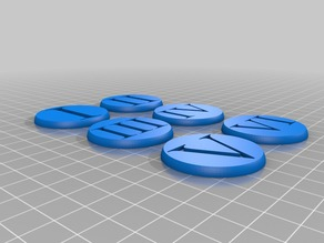 Warhammer 40k Roman Numeral Objective Markers