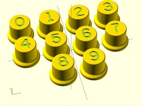 Monroe LA and LA5 series calculator digit buttons