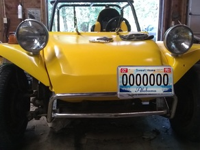 License Plate Mount for Dune Buggy style front bumper