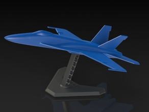 Small scale FA-18 Super Hornet model and stand