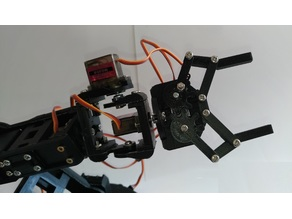 New pieces for Robotic arm with 6DOF by Ancastrog