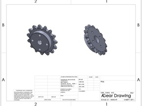 FTC 15 Tooth Sprocket 8mm Pitch for Revrobotics Chain fit to Tetrix Hub