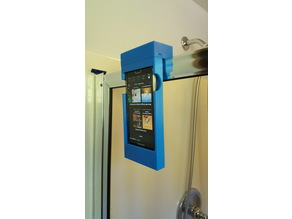 Shower Stall Phone Holder/Speaker Amplifier