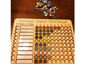 Annual Game Challenge Board