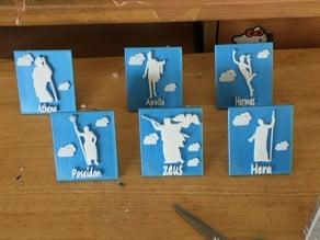 Greek Gods Plaques