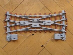 Doppelkreuzungsweiche 22.5° (R3, Spur 1)