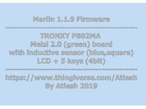 Tronxy p802ma - marlin 1.1.9 firmware