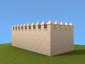 Exin Castillos - Almenas Piramidales