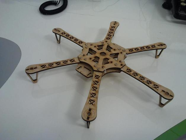 Hexacopter Frame by antpgomes - Thingiverse