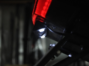 Motorcycle License Plate LED Light Holder