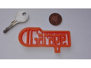 Garage Key Tag