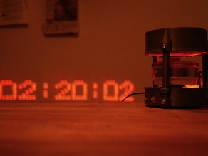Laser projector clock / POV display