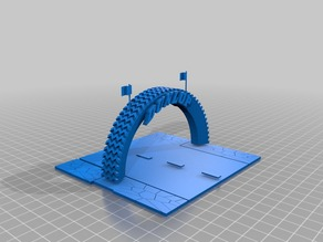 Racing Track Tyre diorama