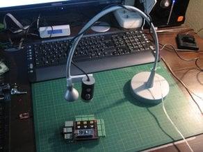 webcam holder with IKEA Desk-Lamp
