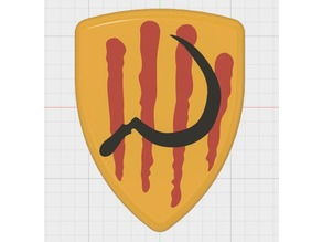 Catalonia Shield with Scythe