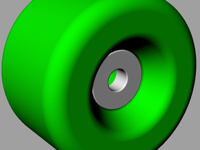 Skateboard Wheel with Bearings - 1/1 Scale