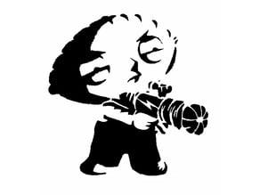 Stewie Griffon stencil