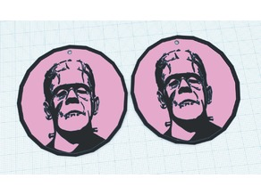 Frankenstein's Monster earrings