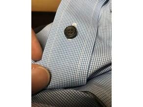 Standard size shirt buttons