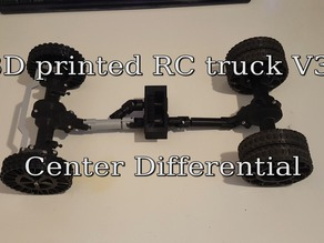 3D printed RC truck V3: Center differential