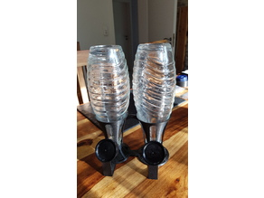 SodaStream Crystal Single and Double Bottle Stand