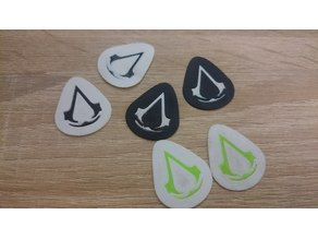 Assassins Creed Guitar Pick DualExtrusion