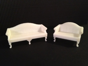 Miniature Queen Anne Sofa