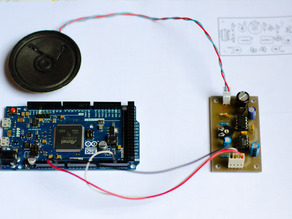 Audio amplifier for Arduino DUE