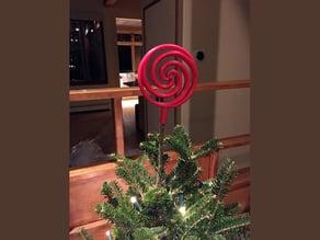 Hypnotizing Spiral Christmas Tree Topper