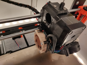 Based on Prusa MK3 R3 - updated Extruder with 40x40x20mm fan open Idler and improved airflow
