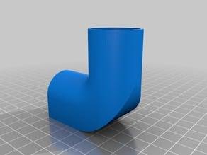 3/4 PVC Elbow Fitting - Flat Bottom