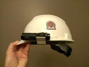 Clamp-on Hardhat Flashlight Clip